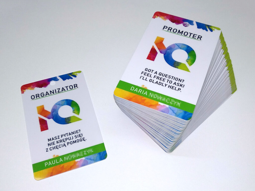 Identyfikatory plastikowe personalizowane na event