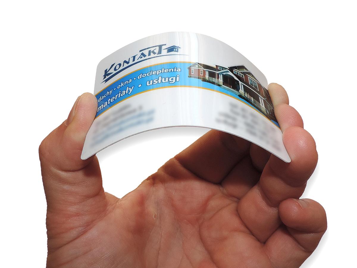 Karty PCV wizytówki plastikowe