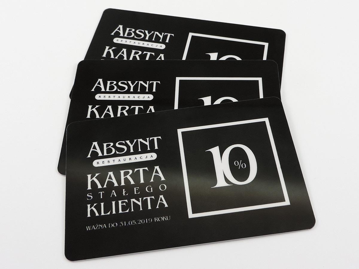 Karty plastikowe - karta stałego klienta