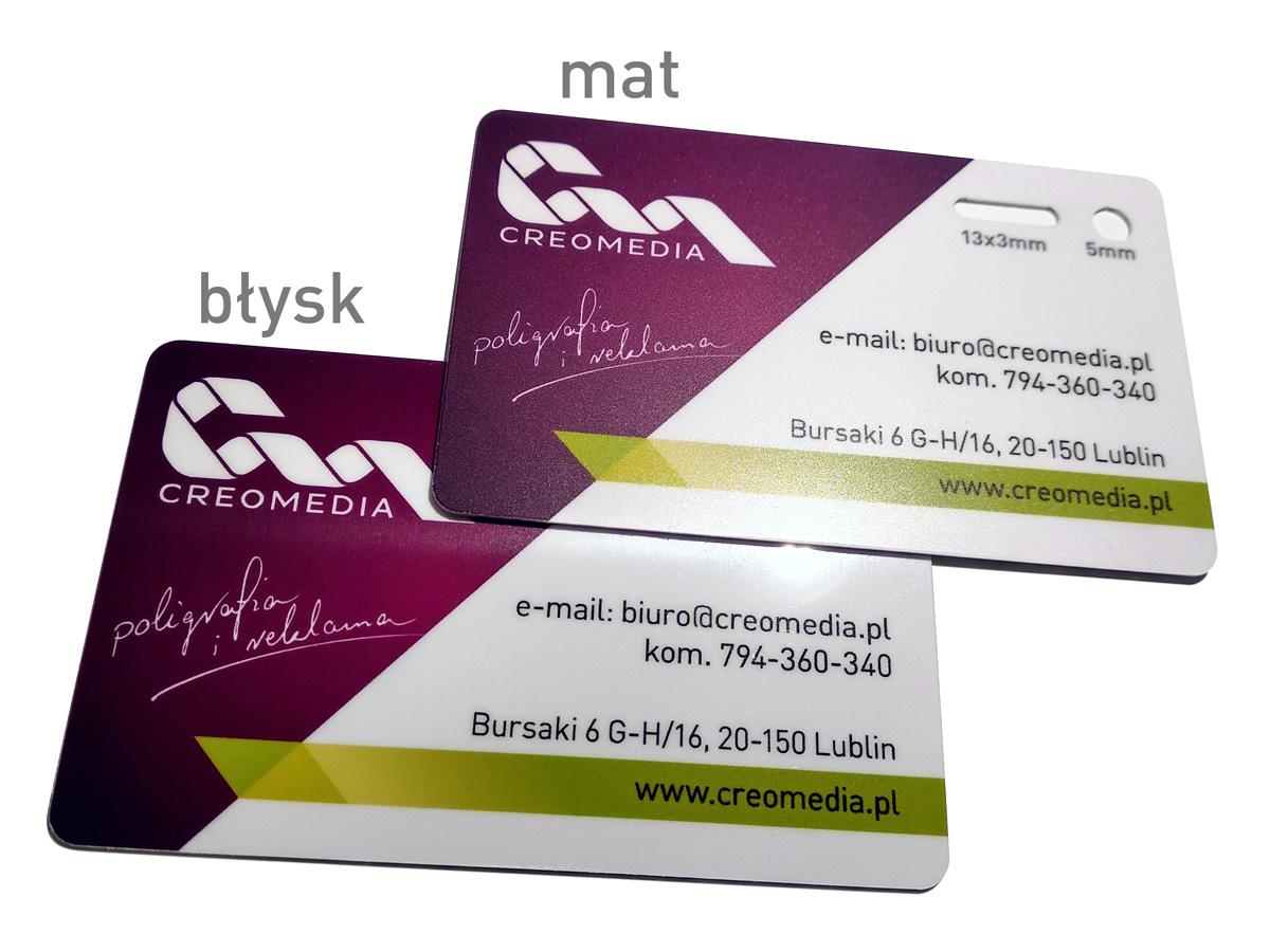 Karty plastikowe PCV matowe lub z błyskiem