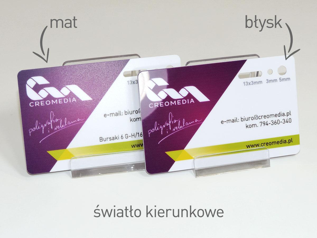 Karty plastikowe z wykończeniem błyszczącym lub matowym