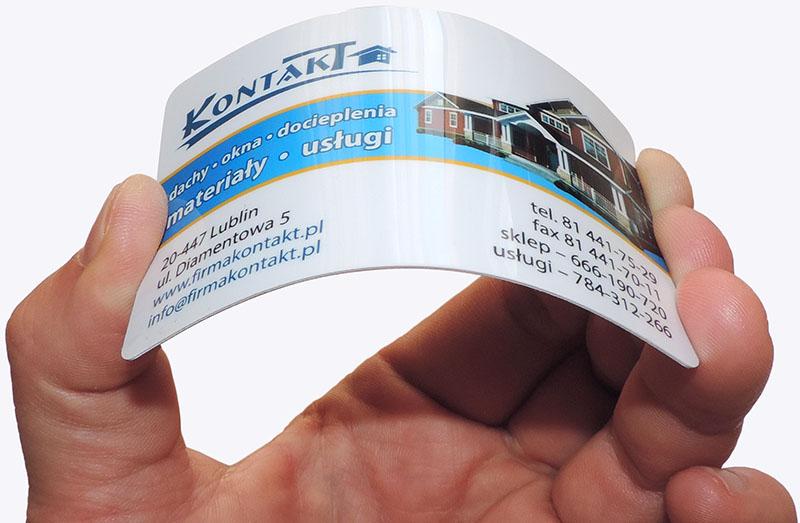 Karty plastikowe z nadrukiem pod laminatem